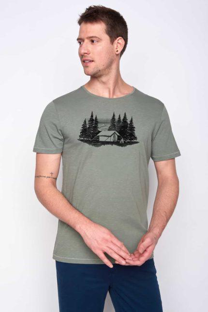 Greenbomb tričko forest tent olivové