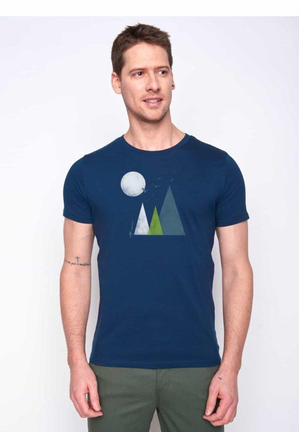 Greenbomb tričko nature hills modré