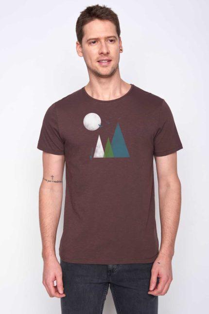 Greenbomb tričko nature hills hnědé