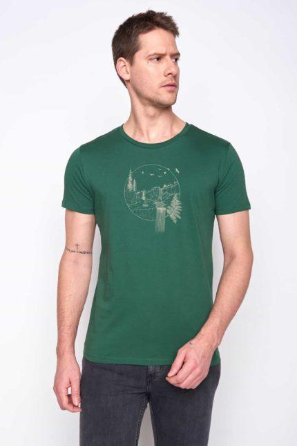 Greenbomb tričko nautre waterfall zelené