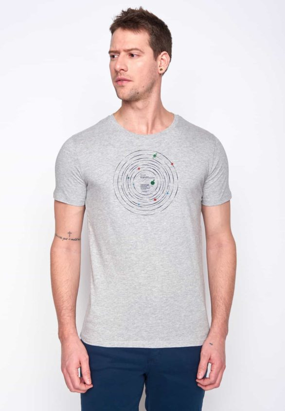 Greenbomb tričko record šedé