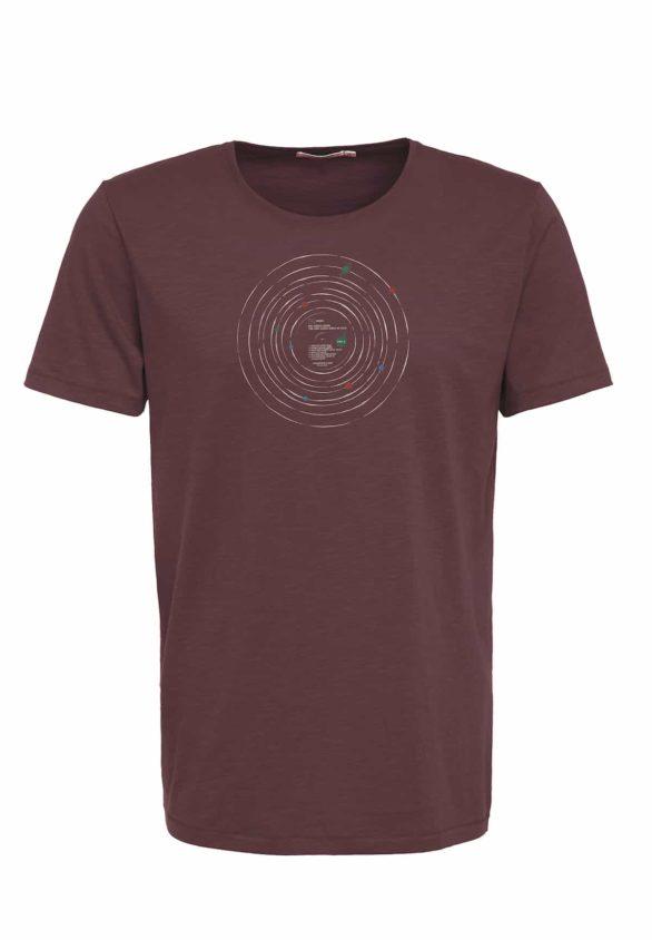 Greenbomb tričko record hnědé