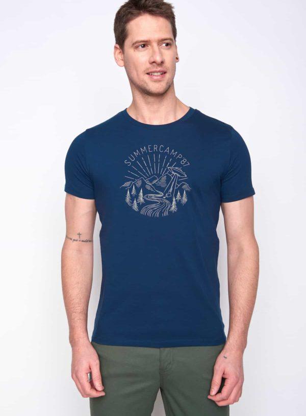 Greenbomb tričko summer camp modré