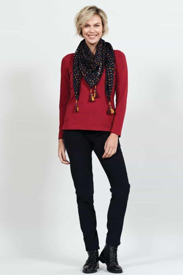 Nomads top z bio bavlny červený