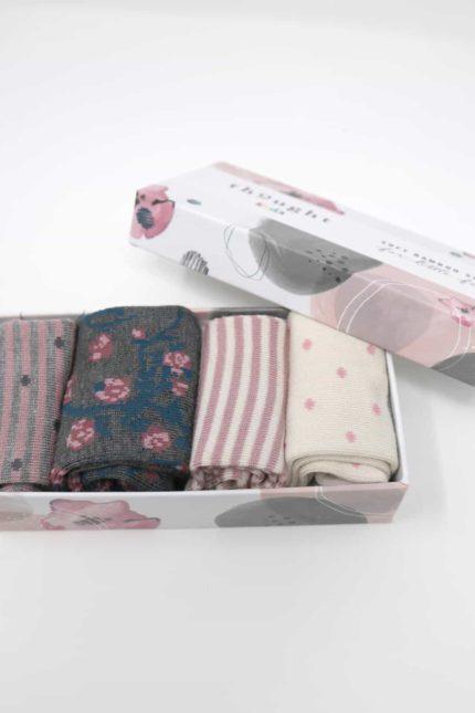 Thought dárkové balení dětských ponožek rose baby