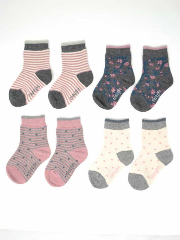 Thought dárkové balení dětských ponožek rose kid