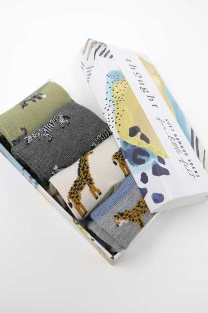 Thought dárkové balení dětských ponožek zoological baby