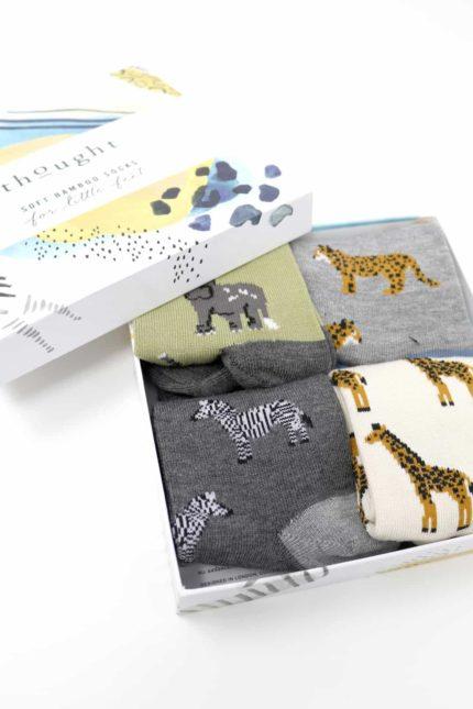 Thought dárkové balení dětských ponožek zoological kid