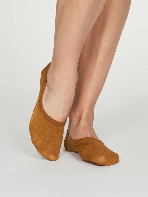 Thought dámské no show bambusové ponožky oranžové
