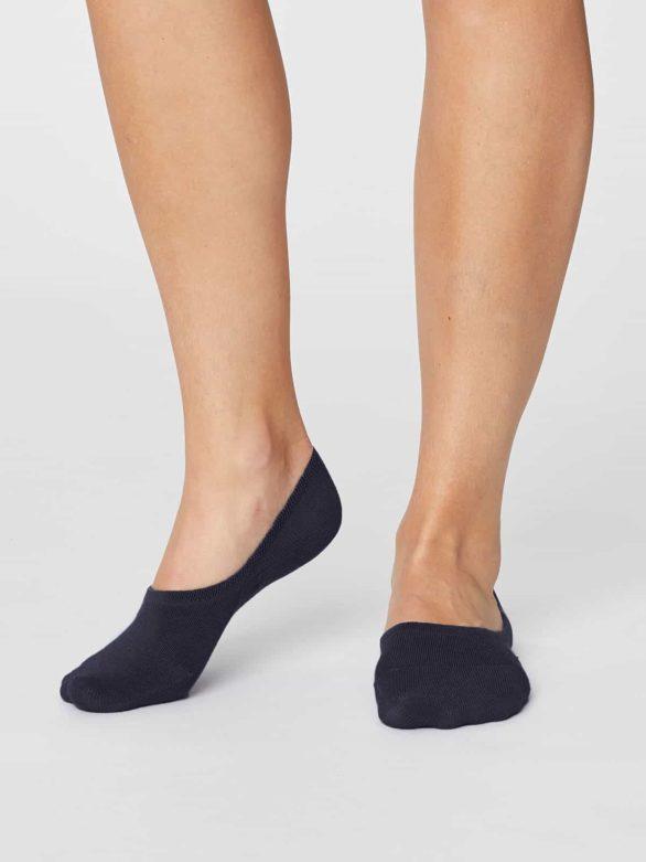 Thought dámské no show bambusové ponožky černé