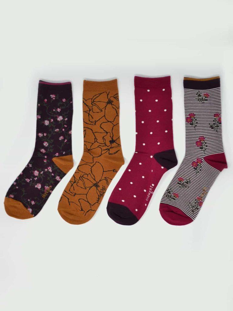Thought dárkové balení dámských ponožek botanic