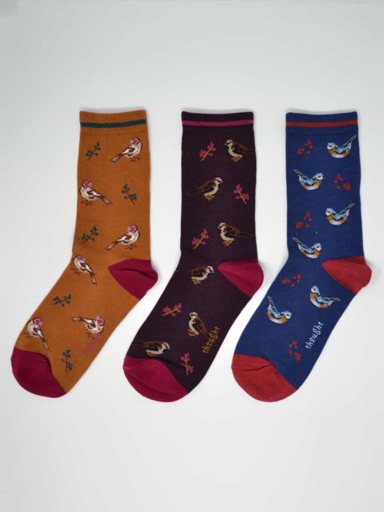 Thought dárkové trojbalení dámských ponožek felice