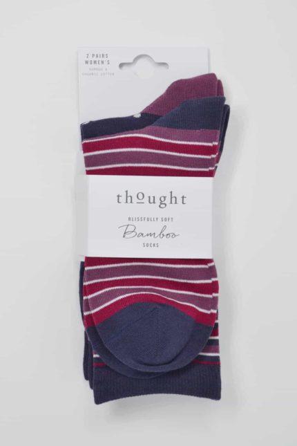 Thought dárkové dvojbalení dámských ponožek marger