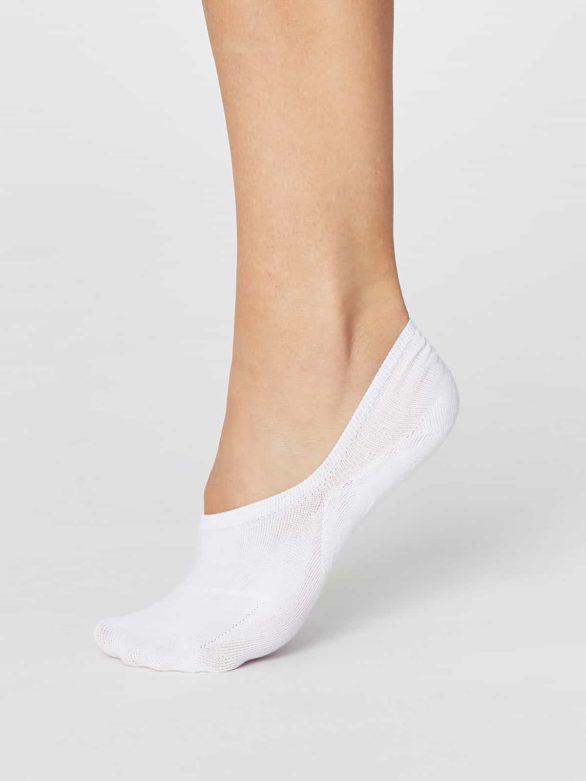 Thought dámské no show bambusové ponožky bílé