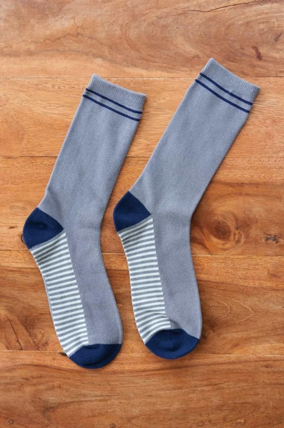 Nomads pánské ponožky z bio bavlny classic stripe šedé