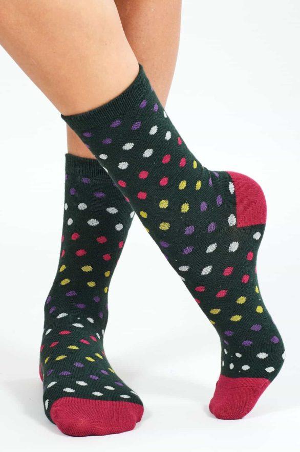 Nomads dámské ponožky z bio bavlny spotty zelené
