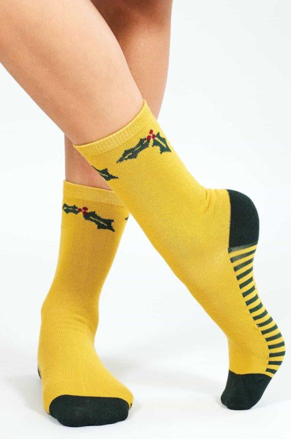 Nomads dámské ponožky z bio bavlny festive žluté