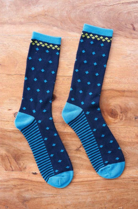 Nomads pánské ponožky z bio bavlny diamond modré