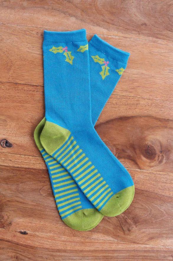 Nomads dámské ponožky z bio bavlny festive modré