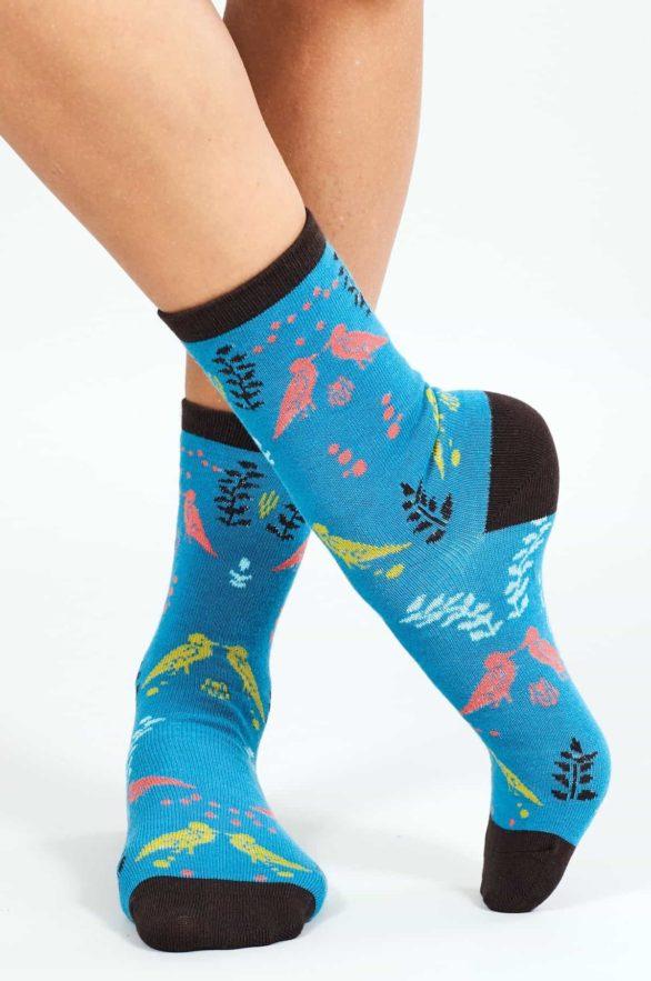 Nomads dámské ponožky z bio bavlny cornish modré