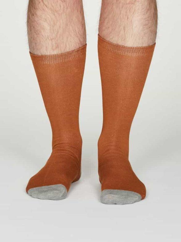 Thought pánské bambusové ponožky jack oranžové