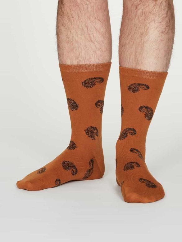 Thought pánské bavlněné ponožky homer oranžové