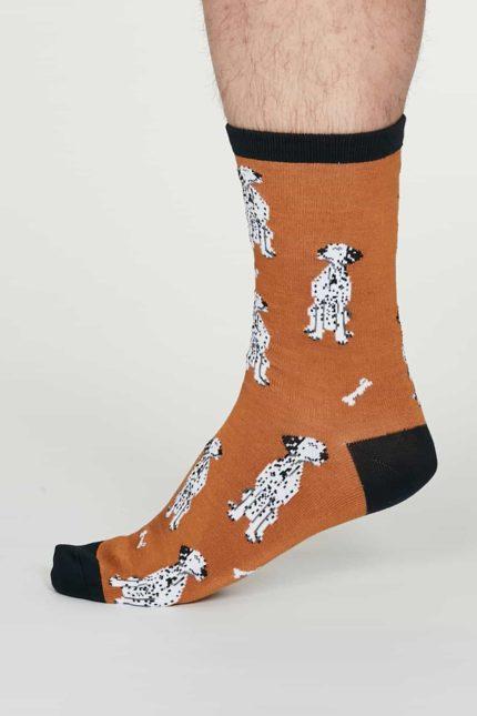 Thought pánské bambusové ponožky lyman oranžové