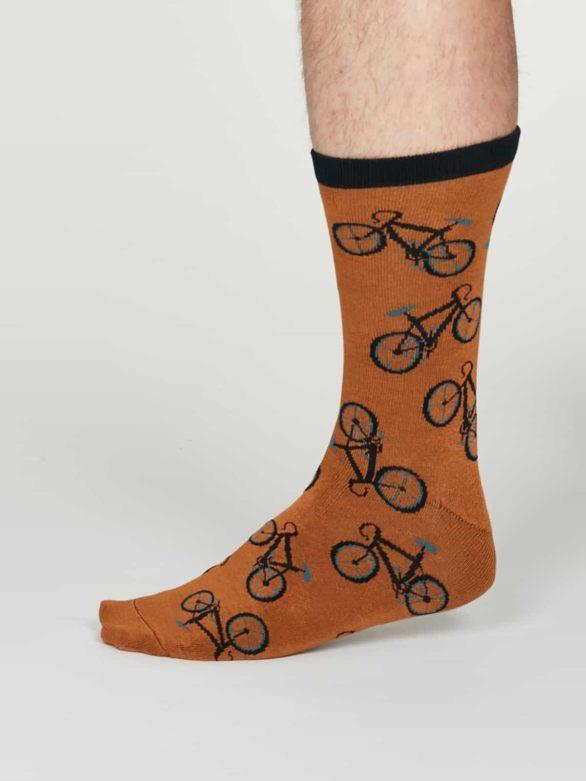 Thought pánské bambusové ponožky wesley oranžové