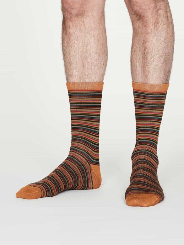 Thought pánské bambusové ponožky william oranžové