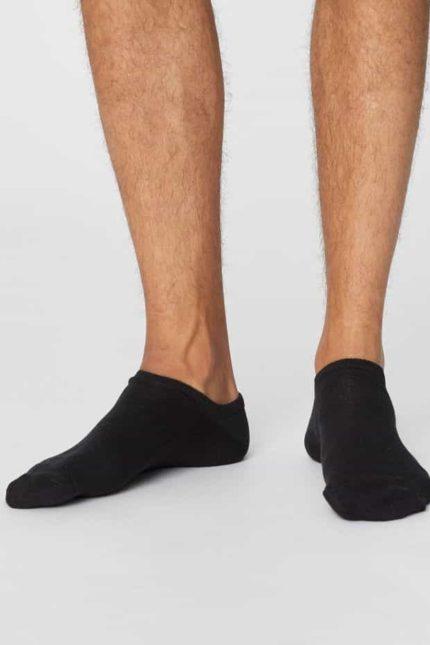 Thought pánské kotníkové ponožky ashley černé