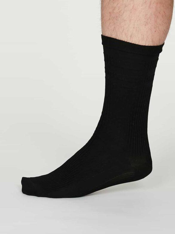 Thought pánské diabetické ponožky benedict černé