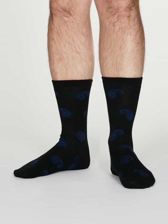 Thought pánské bavlněné ponožky homer černé