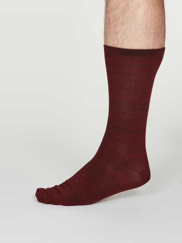 Thought pánské bavlněné ponožky luther bordó