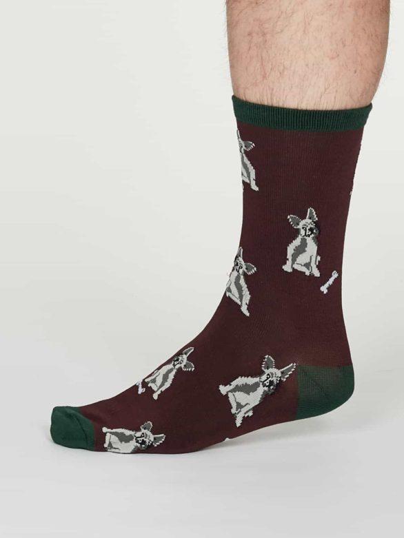 Thought pánské bambusové ponožky lyman bordó