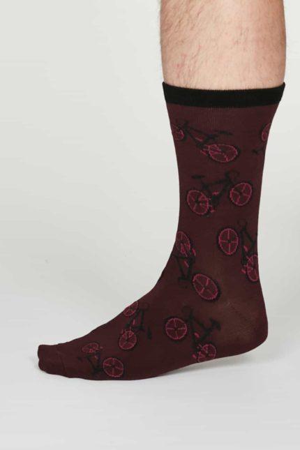 Thought pánské bambusové ponožky wesley bordó