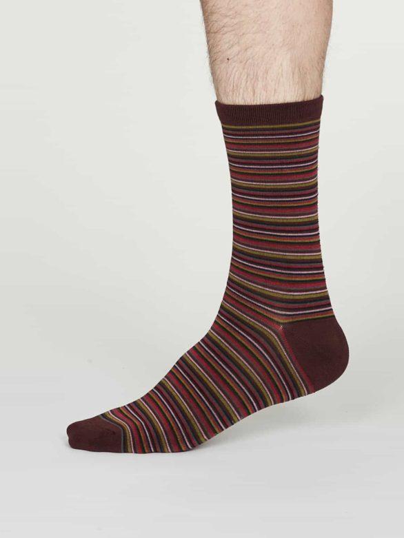 Thought pánské bambusové ponožky william bordó