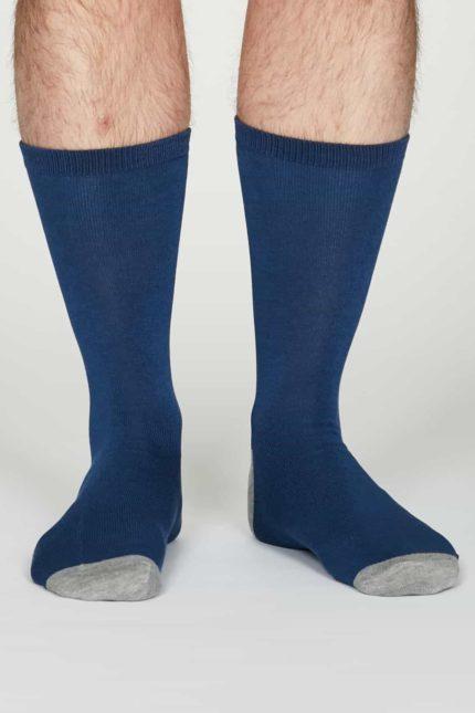 Thought pánské bambusové ponožky jack sv. modré