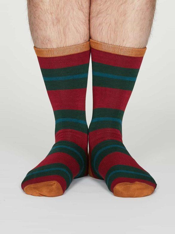 Thought pánské bambusové ponožky jacob červené