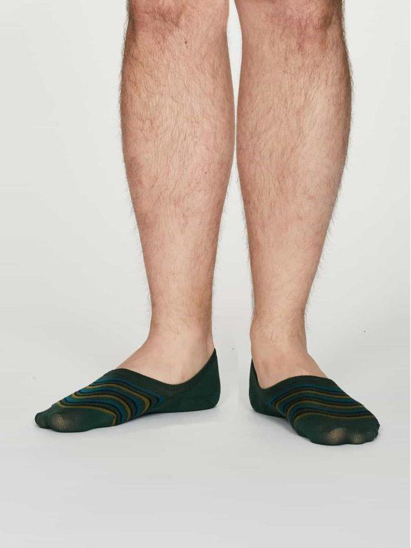 Thought pánské neviditelné ponožky elbert zelené