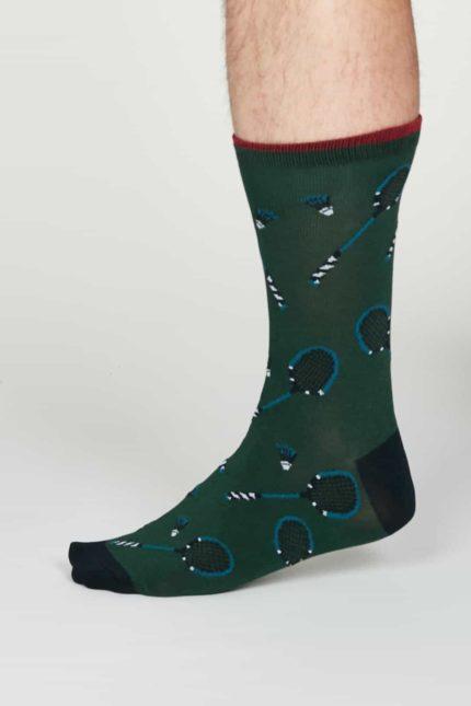 Thought pánské bambusové ponožky perry zelené