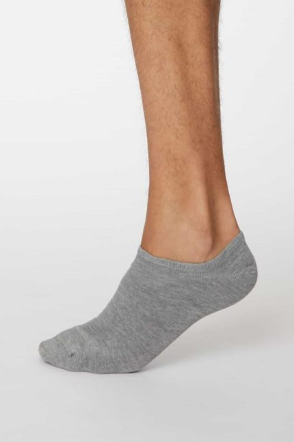 Thought pánské kotníkové ponožky ashley šedé