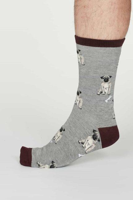 Thought pánské bambusové ponožky lyman šedé