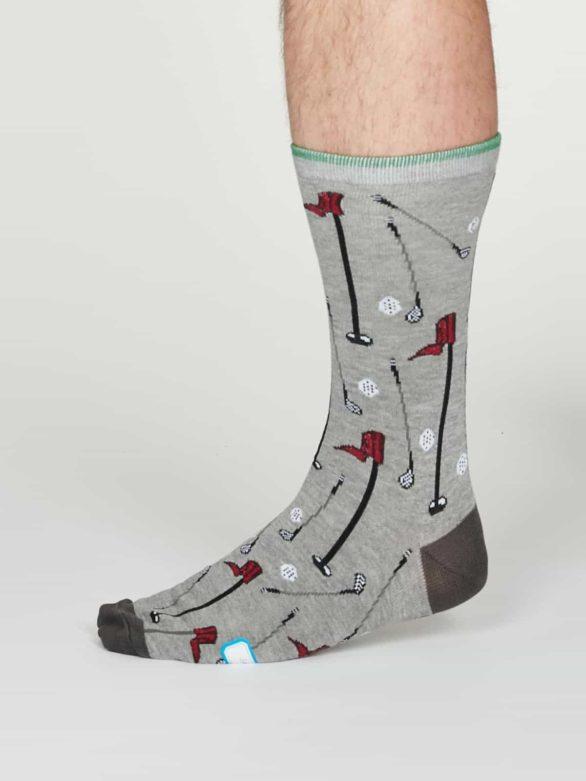 Thought pánské bambusové ponožky perry šedé