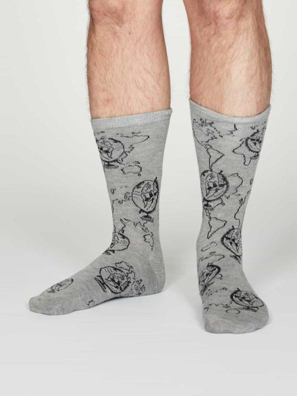 Thought pánské bambusové ponožky thaddens šedé