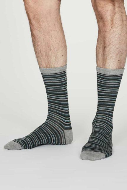 Thought pánské bambusové ponožky william šedé