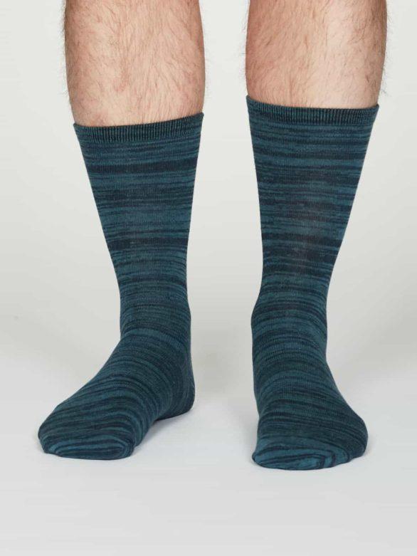 Thought pánské bavlněné ponožky luther modré