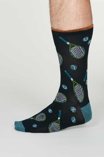 Thought pánské bambusové ponožky perry modré