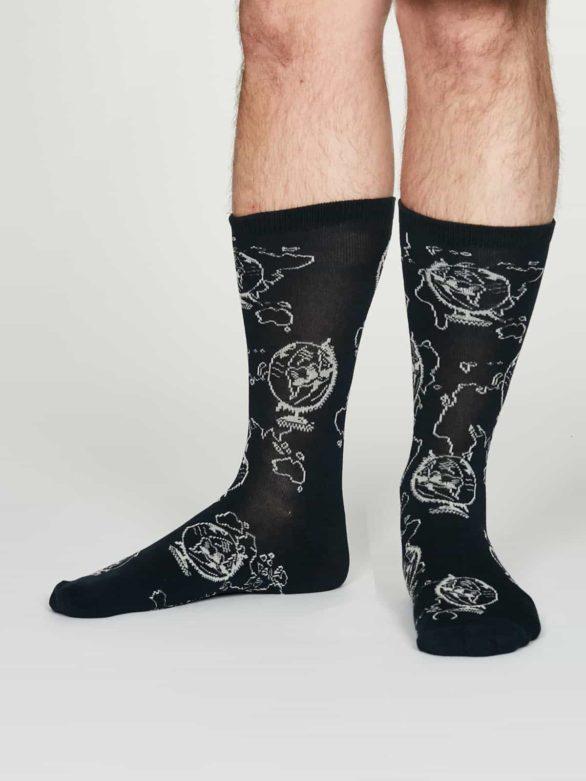 Thought pánské bambusové ponožky thaddens modré
