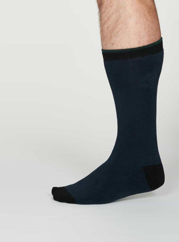 Thought teplé pánské bavlněné ponožky walker modré