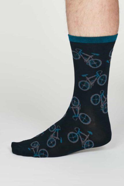 Thought pánské bambusové ponožky wesley modré